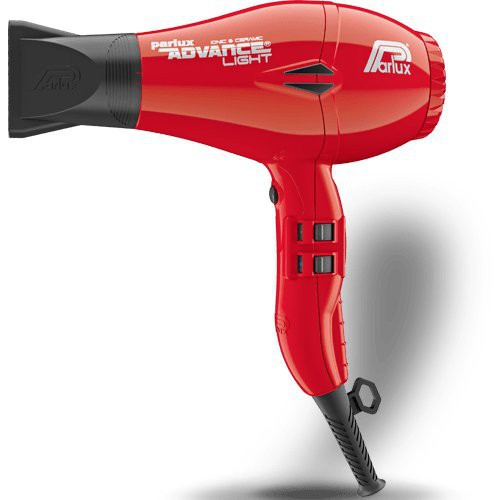 Parlux Advance Light Ceramic Ionic Hairdryer - White Red