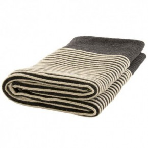 Nord Snow Striped Style Merino Wool Blanket
