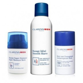 Clarins Hydration Essentials for men + moisturising balm + shaving gel + deodorant