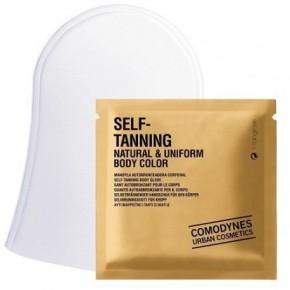 Comodynes Self-Tanning Natural & Uniform Body Color Glove 3pcs