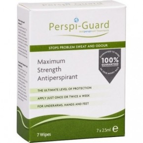 Perspi-Guard Maximum Strength Antiperspirant Wipes 7pcs