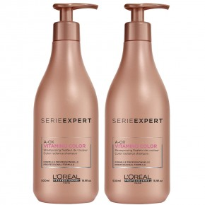 L'Oréal Professionnel Set: Vitamino Color A-OX Hair Shampoo 500+500ml