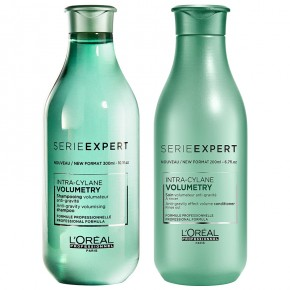 L'Oréal Professionnel Set: Volumetry Hair Shampoo And Conditioner 300+200ml