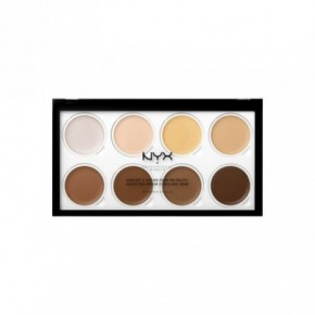 NYX Professional Makeup Highlight & Contour Cream Pro Palette 16g