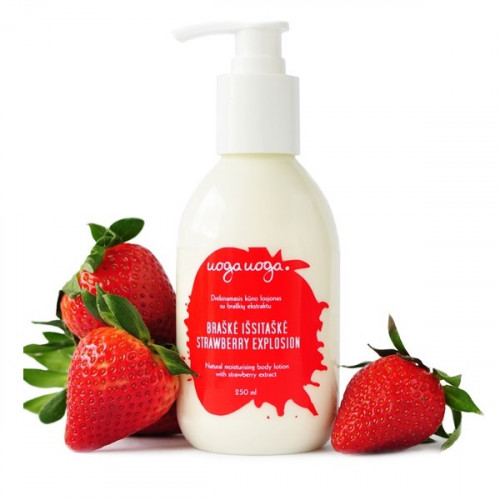Uoga Uoga Strawberry Explosion Natural Moisturising Body Lotion 250ml