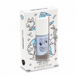 Nailmatic Kids Merlin Shimmer Pearly Blue Water-Based Nail Polish For Kids 8ml