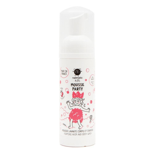 Nailmatic Kids Strawberry Mousse Party Foaming Hair & Body Wash 150ml