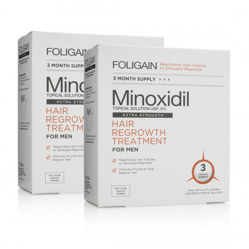 Haircare Products Foligain Minoxidil Topical Solution 5% Hair Regrowth Treatment for Men 180ml