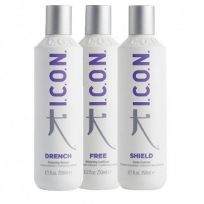 I.C.O.N. 2 Hydration Hair Care Kit 2+1 + Shampoo + Conditioner + Treatment