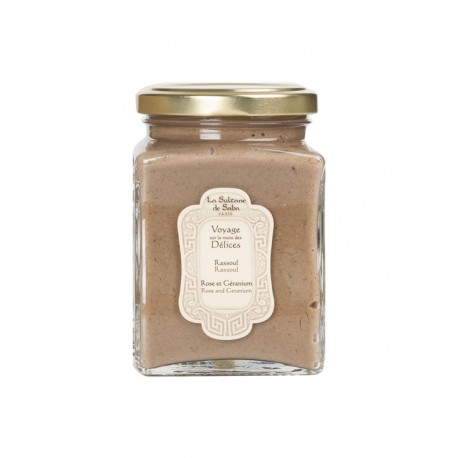 La Sultane De Saba Rassoul Rose And Geranium Lava Clay 300g