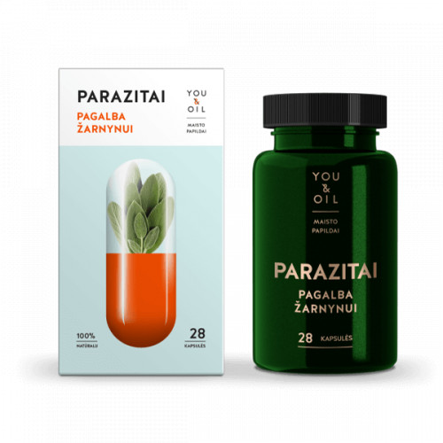 You&Oil Parasites. Cleanse Support Anti-Parasite Food Supplement 28 caps.