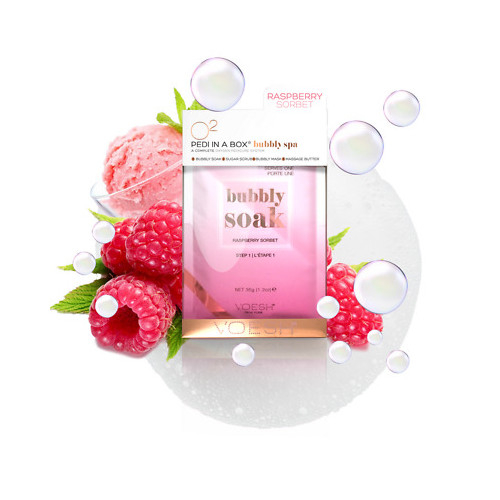 VOESH Pedi In A Box 4in1 Bubbly Spa Raspberry Sorbet Set